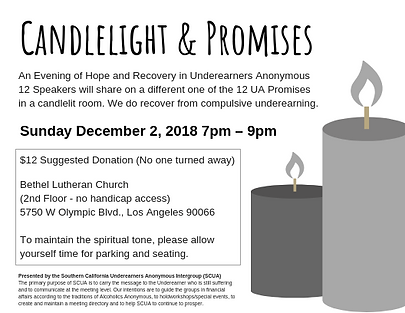 Candlelight and Promises Flyer (Dec 2018