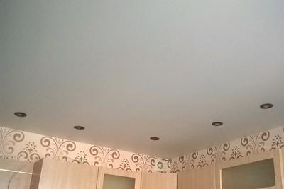 Матовый натяжной потолок белый стоимость
