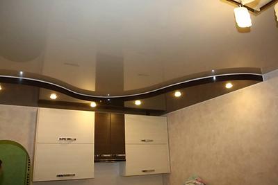 Двухуровневый натяжной потолок цена