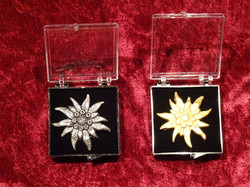 Broschen Edelweiss silber + gold
