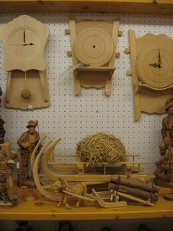 div. Holzwaren, Uhren