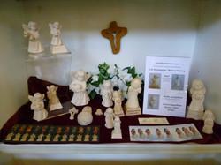 Engel in Vitrine im Lindenhof/Sarnen