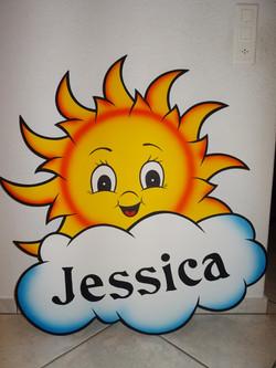 Sonne mit Wolke