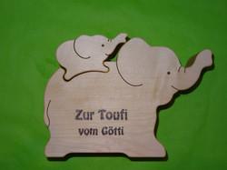 Widmung: Zur Toufi / Zur Taufe