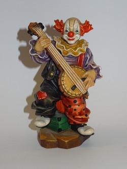 Clown Banjospieler aus Holz