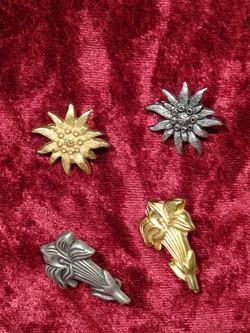 Broschen Edelweiss Enzian