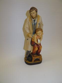 Arzt - Figur mit Kind aus Holz