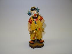 Clown mit Trompete aus Holz