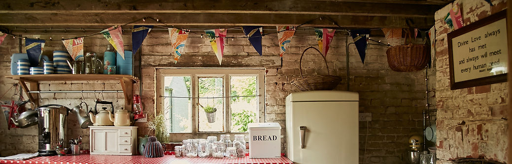 Rustic Camp Kitchen, 18th Century Barn at The Keeper and the Dell, Norfolk