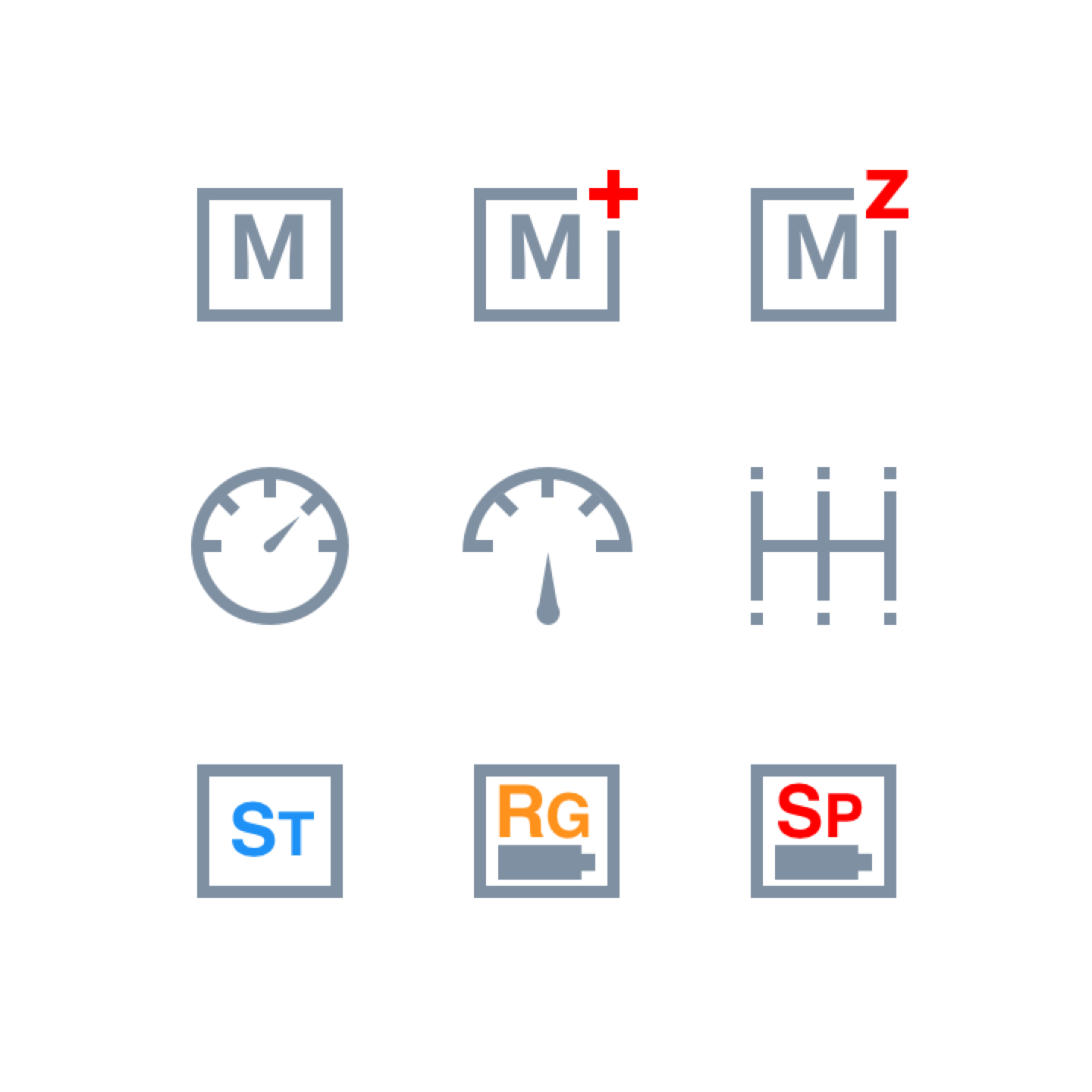 Battery Time Mode icons