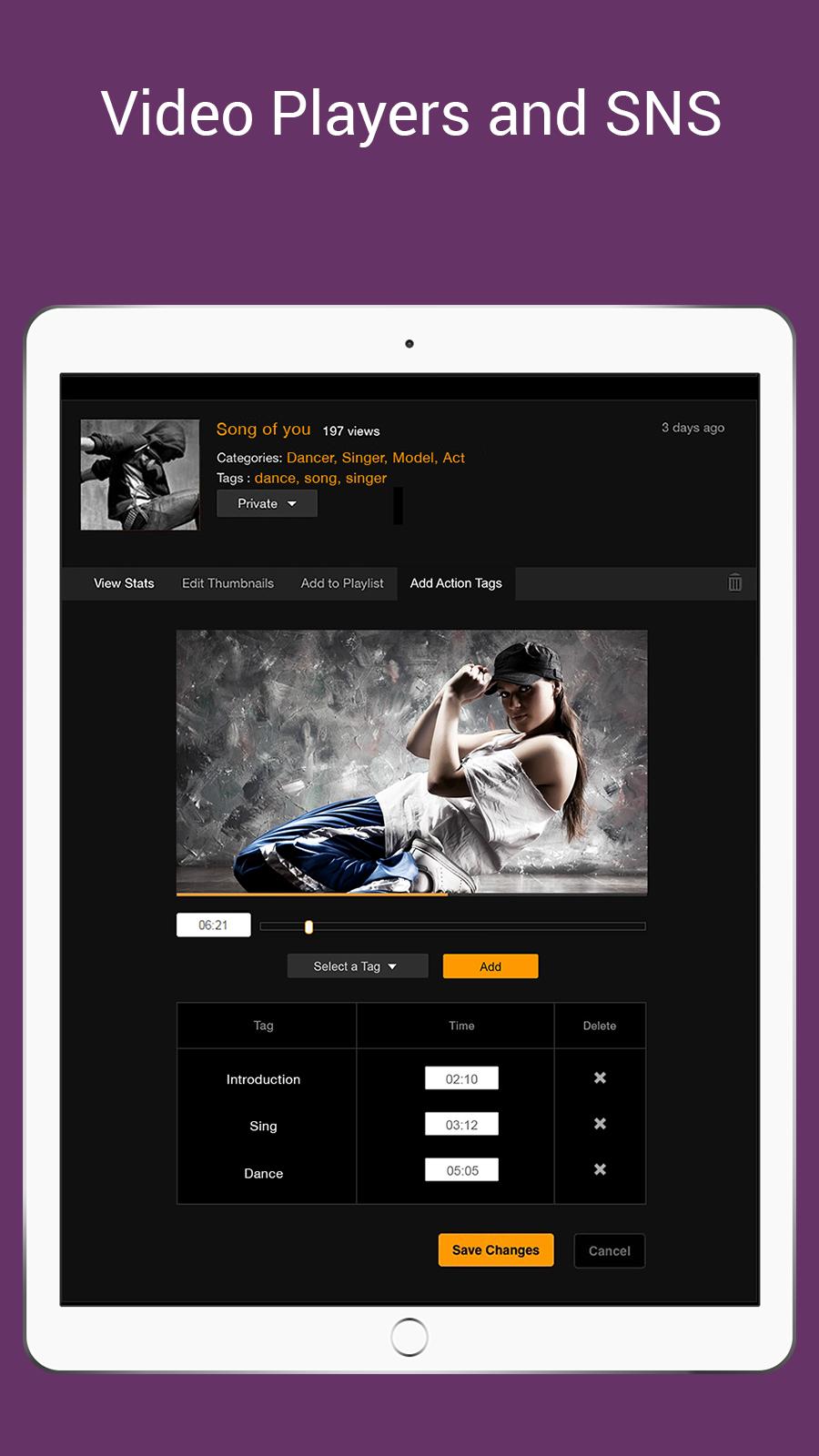 Video Player snd SNS sites