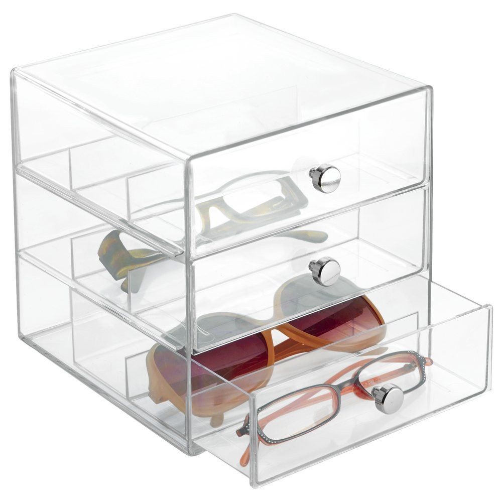Clear glasses drawer