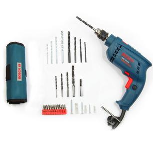 Open-Box Bosch GSB 450-Watt Impact Drill Set (Blue, 100-Pieces)