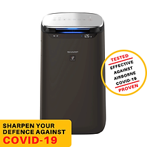 Sharp FP-J80M-H Air Purifier for Homes and Offices | Dual Purification - ACTIVE (Plasma Cluster Technology) and PASSIVE FILTERS (True HEPA H14, Carbon, Pre-Filter)