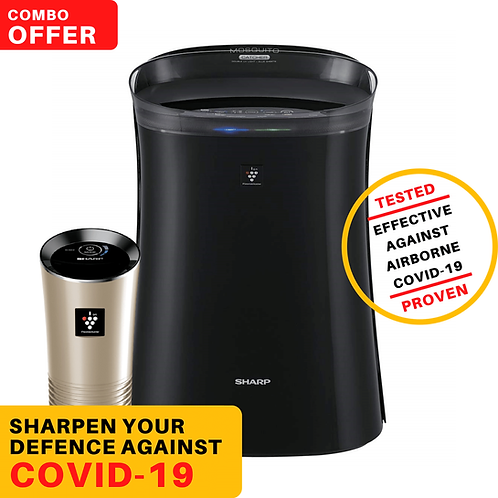 Combo of Sharp FP-GM50E-B and Sharp IG-GC2E-N Air Purifier