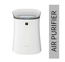 Sharp Air Purifier for Homes & Offices | Dual Purification - ACTIVE (Plasmacluster Technology) & PASSIVE FILTERS (True HEPA+Carbon+Pre-Filter) | Captures 99.97% of Impurities with highest grade H14 HEPA filter in E1822 type | Model:FP-F40E-W | White