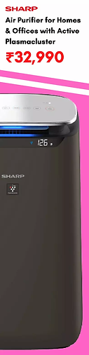 Sharp FP-J80M-H Air Purifier With Digita