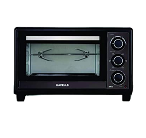 Havells 20R BL 1380W Stainless Steel Oven Toaster Grill (Black)