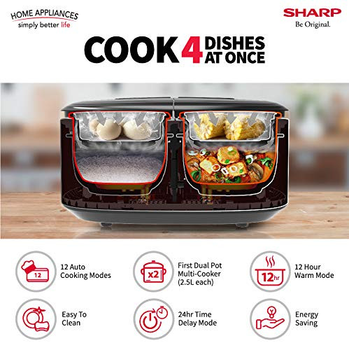 Sharp Twin Cooker 1st Dual Pot Multi Coo