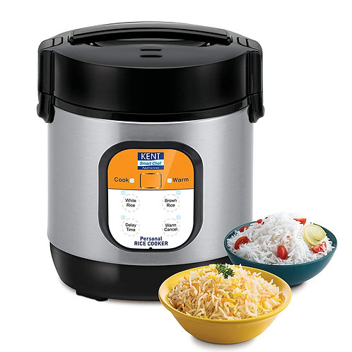 Refurbished Kent Personal Rice Cooker 0.9-litres 180-Watt (Black and Silver)