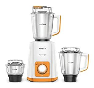 Havells Super Mix NV 500-Watt Mixer Grinder (Orange)