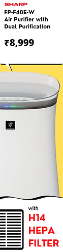 Sharp Air Purifier for Homes & Offices F