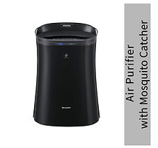 Sharp Air Purifier with Mosquito Catcher | Indoor Air Purifier | Dual Purification - ACTIVE Plasmacluster Tech & PASSIVE FILTERS-True HEPA+Carbon+Pre-Filter | Captures 99.97% of Impurities with highest grade H14 HEPA filter in E1822 type |FP-GM50E-B