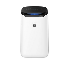 Sharp FP-J60M-W Air Purifier With Digital PM2.5 Real-Time Display, Coverage 520 Sq Ft (White)