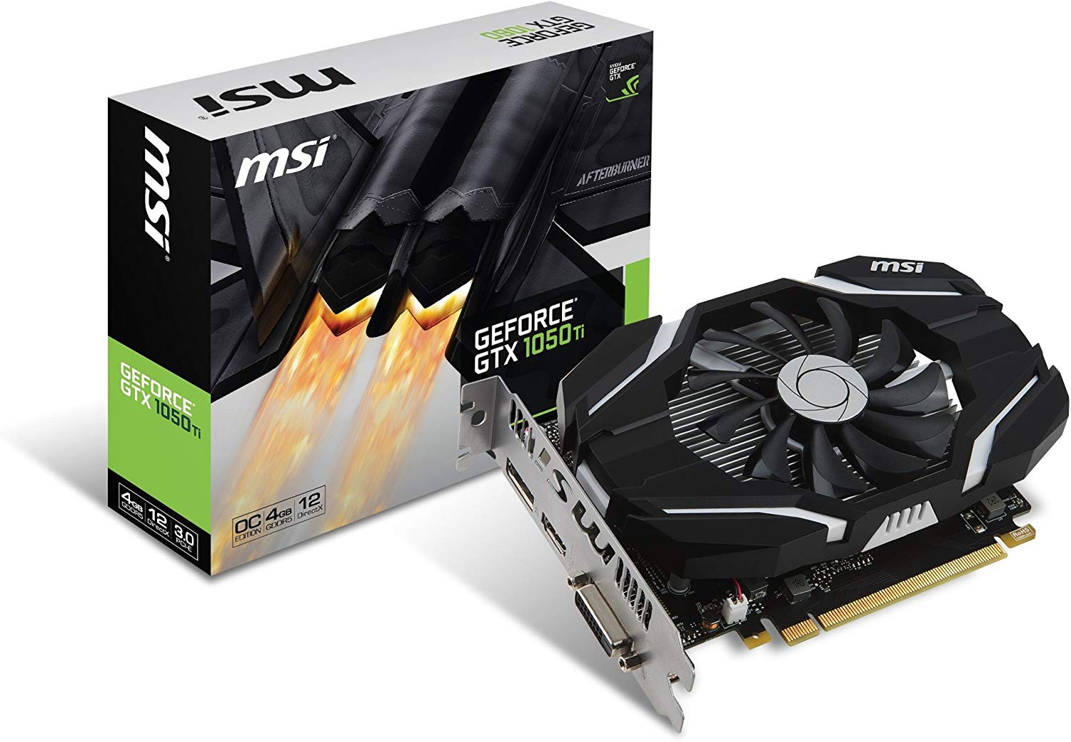 MSI GTX 1050Ti 4GB PCI-e Graphics Card