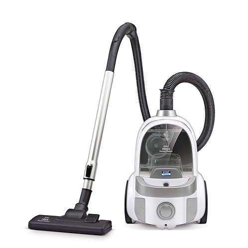 Refurbished Kent Force Cyclonic Vacuum Cleaner 2000-Watt (White and Silver)