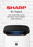 Sharp FP-J60M-W Air Purifier With Digita