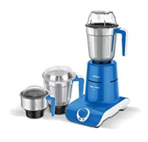 Havells Maxx Grind 750-Watt Mixer Grinder with 3 Jars (Blue)