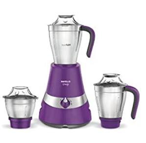 Havells Gracia 750-Watt Mixer Grinder with 3 Jars (Purple)