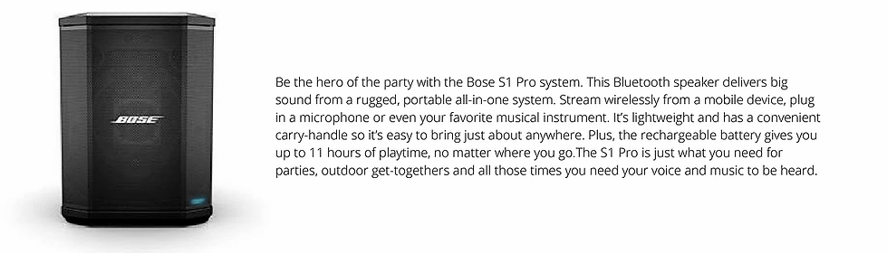 Bose S1 Pro Portable Bluetooth Speaker S