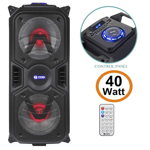 Open-Box Zoook Rocker Thunder Plus 40 watts Karaoke Bluetooth Speaker