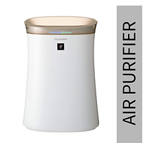 Sharp Air Purifier for Homes & Offices | Dual Purification - ACTIVE (Plasmacluster Technology) & PASSIVE FILTERS (True HEPA+Carbon+Pre-Filter) | Captures 99.97% of Impurities | Model:FP-G50E-W | White