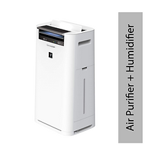 Sharp Air Purifier with Humidifier for Homes, Rooms, Office | Active Plasmacluster Technology | True HEPA & Activated Carbon Filter | Manages ideal humidity | Humidity & Temperature Sensor