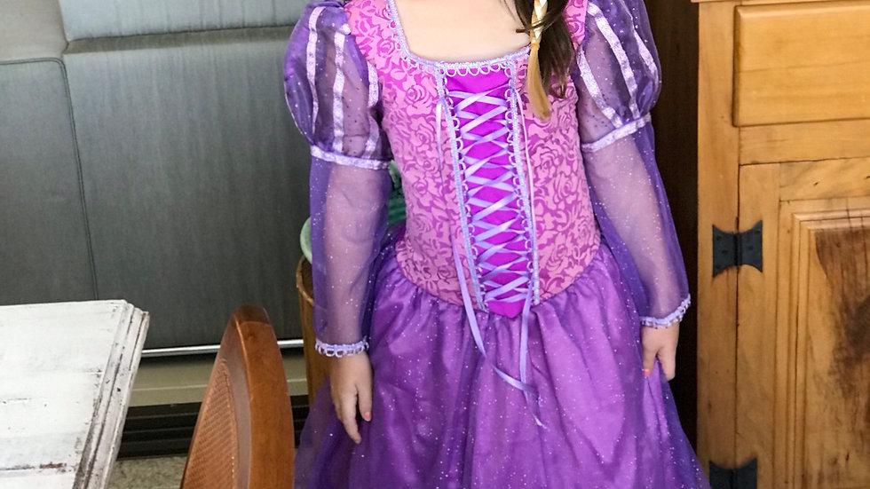 Fantasia Infantil Princesa das Tranças