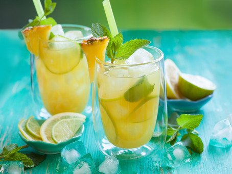 Pineapple Lime Infused Hydration Water