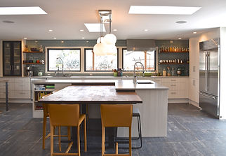 contemporary kitchen, industrual, large, tile