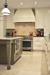 traditional kitchen, wood hood,tile,limestone floor, Boulder