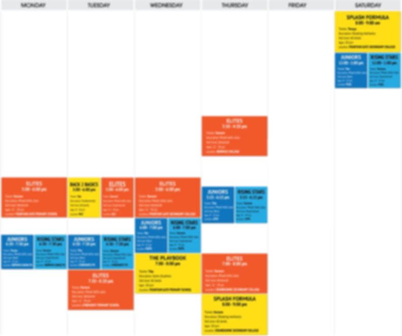 Envision Basketball Full Weekly Schedule