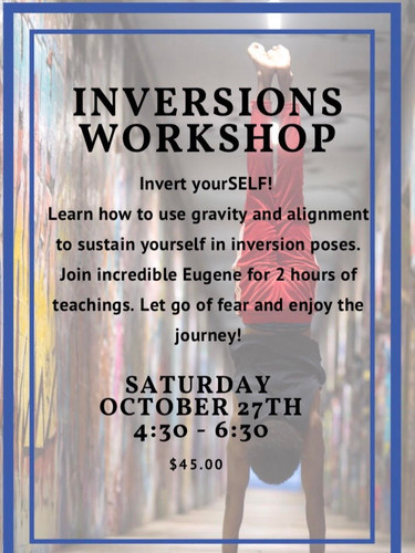 Yoga 1st Inversion Workshop at Peachtree