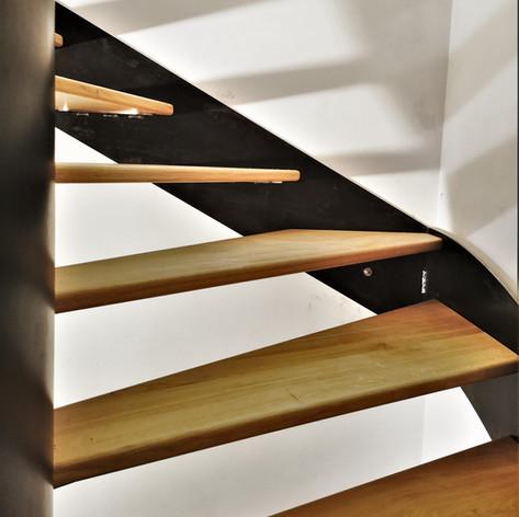 Escalier bois métal