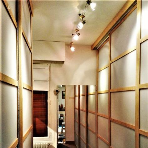 porte coulissante pour dressing effet cloison japonaise