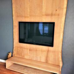 Meuble TV effet arbre géant brut