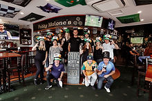 A photo of staff and patrons for Paddys Day 2021