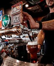 Pouring a Kilkenny pint