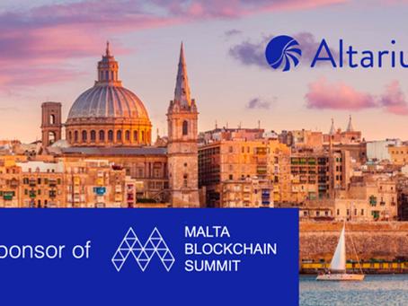 Altarius as sponsor of Malta Blockchain Summit