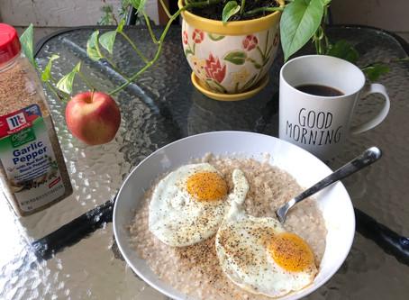 Savory Breakfast Eggs 'N' Oats